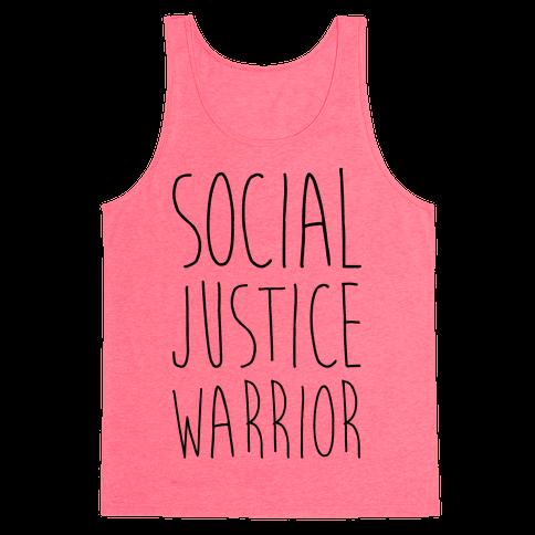 Social Justice Warrior Tank Top