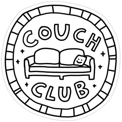 Couch Club Membership Badge Die Cut Sticker