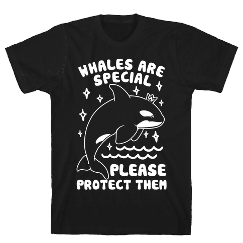 Whales Are Special Please Protect Them  Mens T-Shirt