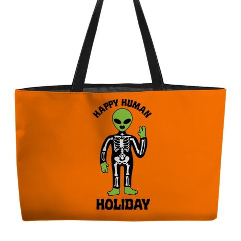 Happy Human Holiday Weekender Tote
