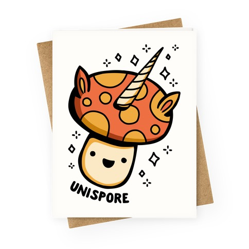 Unispore Unicorn Mushroom Greeting Card