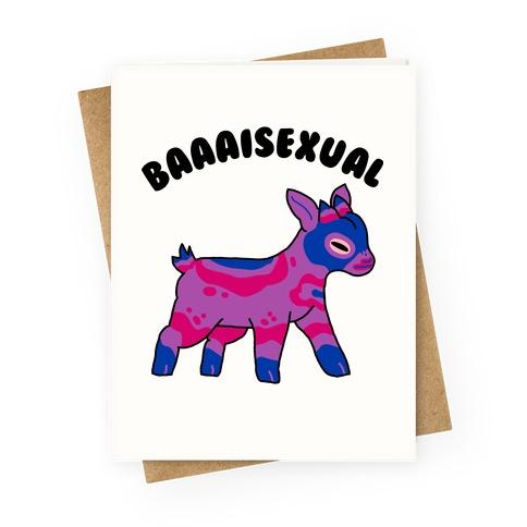 Baaaisexual  Greeting Card