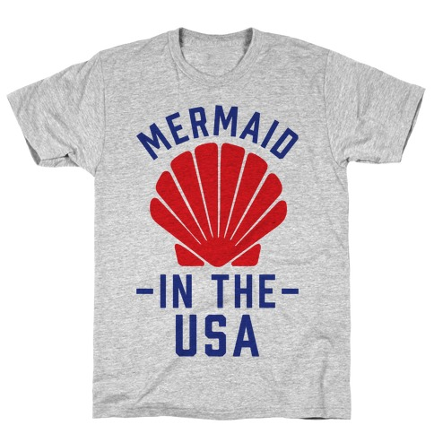 Mermaid In The USA T-Shirt