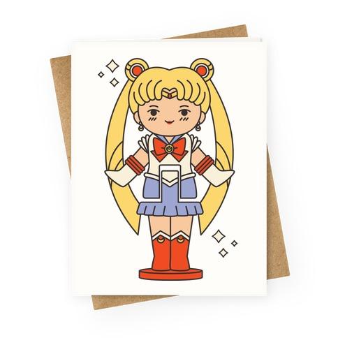 Sailor Moon Pocket Parody Greeting Card