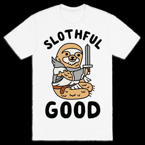 Slothful Good Sloth Paladin Mens T-Shirt