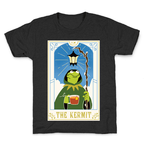 The Kermit Tarot Card Kids T-Shirt