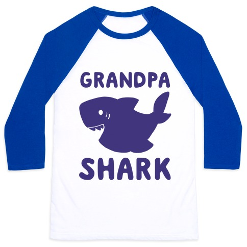 Grandpa Shark (1 of 5 set) Baseball Tee
