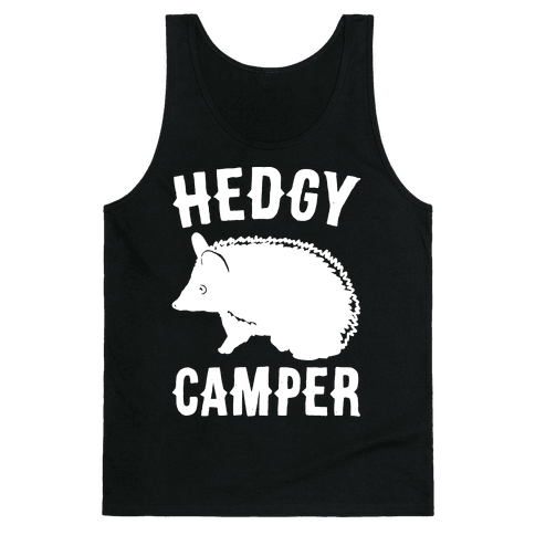 Hedgy Camper White Print Tank Top