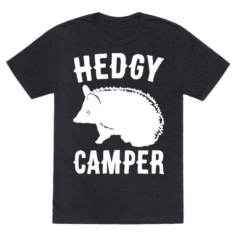 Hedgy Camper White Print