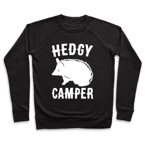 Hedgy Camper White Print Pullover