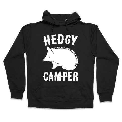 Hedgy Camper White Print Hooded Sweatshirt