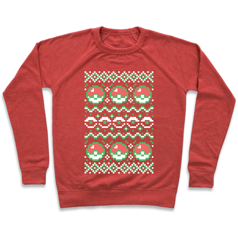 Pokéball Ugly Christmas Sweater Pattern Pullover