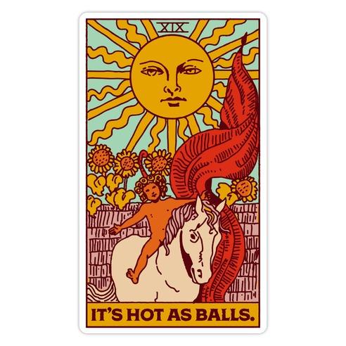 It's Hot As Balls (The Sun Tarot) Die Cut Sticker