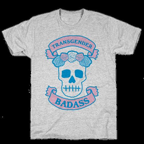 Transgender Badass Mens T-Shirt