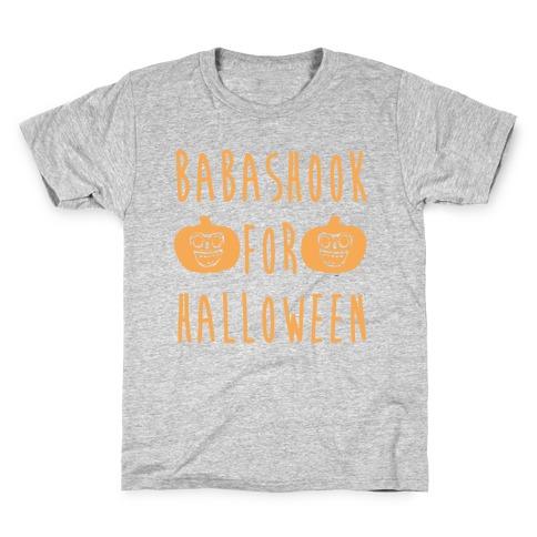 Babashook For Halloween Parody White Print Kids T-Shirt