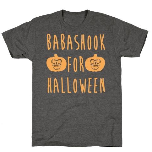 Babashook For Halloween Parody White Print T-Shirt