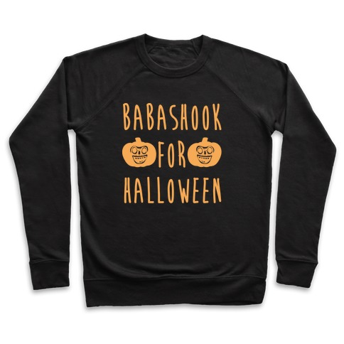 Babashook For Halloween Parody White Print Pullover