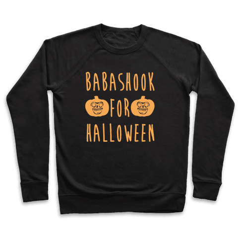 Babashook For Halloween Parody White Print Pullover