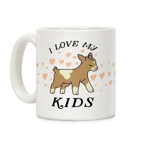 I Love My Kids (Goat) Coffee Mug