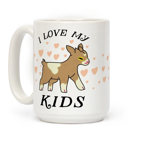 I Love My Kids (Goat) Coffee Mug