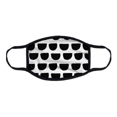 Simple Scallop Pattern White Flat Face Mask