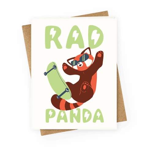 Rad Panda Greeting Card