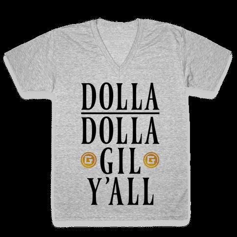 Dolla Dolla Gil Y'all V-Neck Tee Shirt