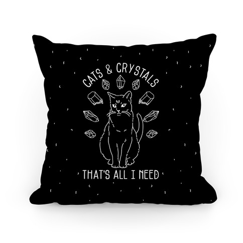 Cats and Crystals Pillow