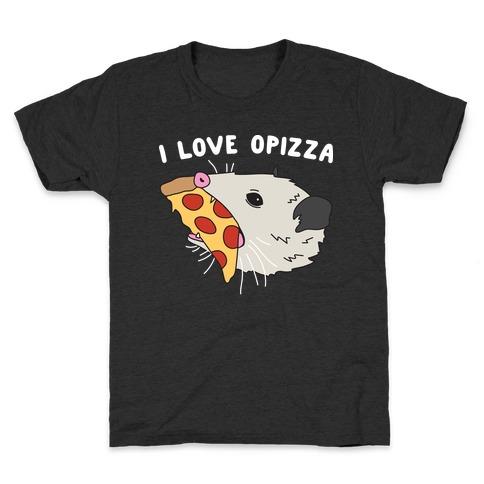 I Love Opizza Opossum Kids T-Shirt