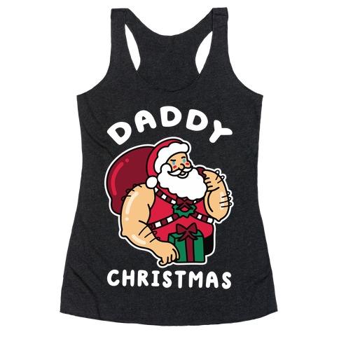 Daddy Christmas Racerback Tank Top