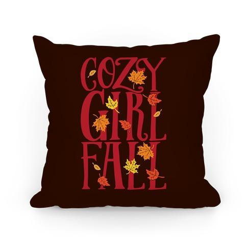 Cozy Girl Fall Pillow