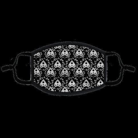 Planchette Pattern Black Flat Face Mask