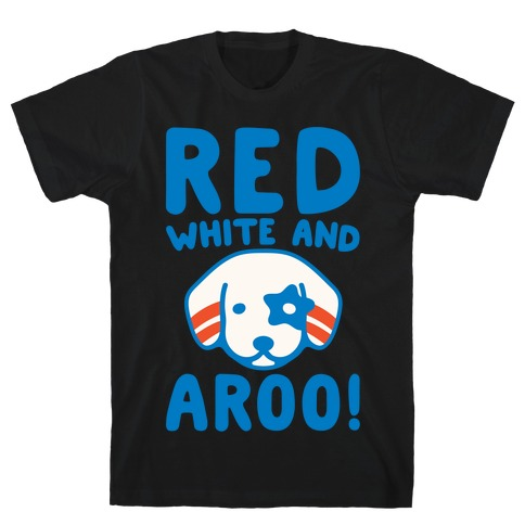 Red White and Aroo White Print T-Shirt