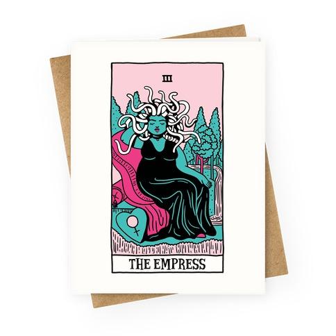 Creepy Cute Tarots: The Empress Medusa Greeting Card