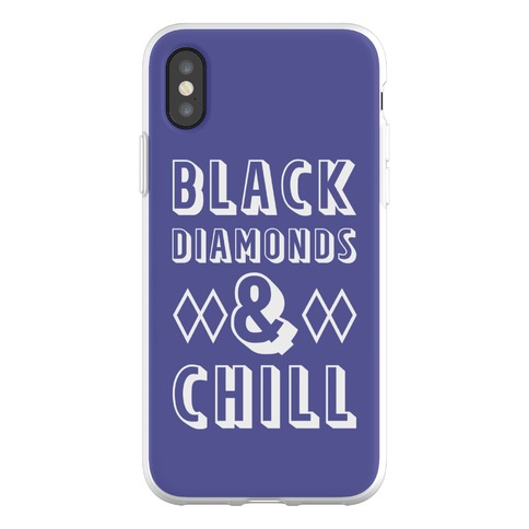 Black Diamonds and Chill Phone Flexi-Case