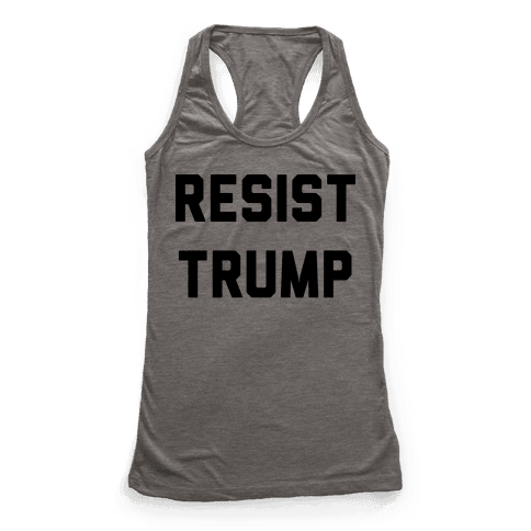 Resist Trump Racerback Tank Top