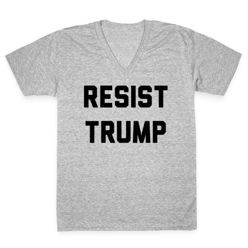 Resist Trump V-Neck Tee Shirt