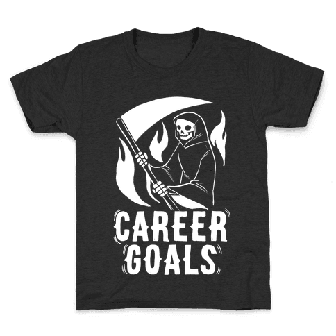 Career Goals - Grim Reaper Kids T-Shirt