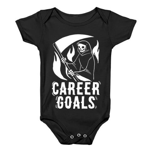 Career Goals - Grim Reaper Baby Onesy