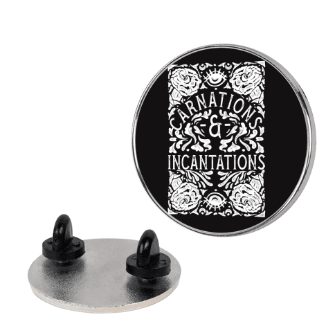 Carnations and Incantations pin