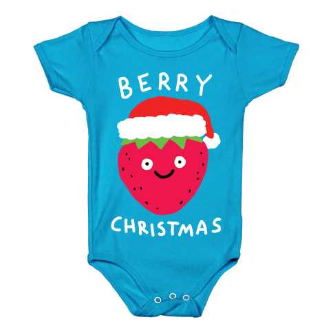 Berry Christmas Baby Onesy