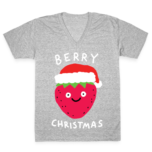 Berry Christmas V-Neck Tee Shirt