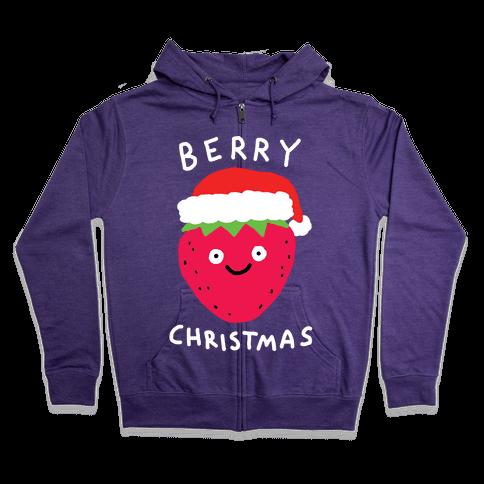 Berry Christmas Zip Hoodie