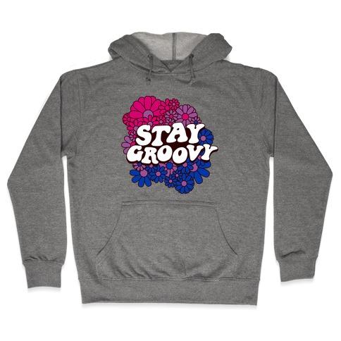 Stay Groovy (Bi Flag Colors) Hooded Sweatshirt