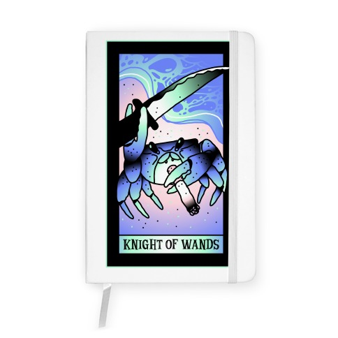 Knight Of Wands Smoking Crab Tarot Notebook