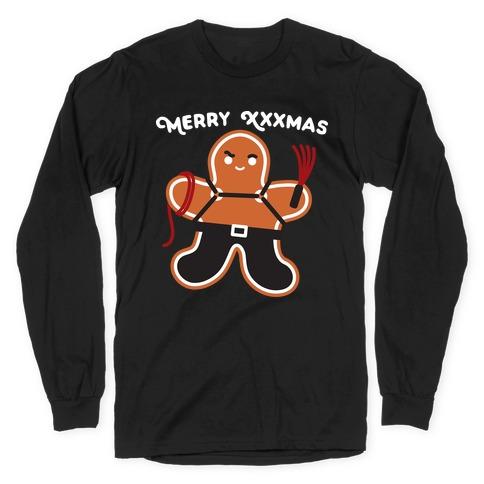 Merry XXXmas Gingerbread Long Sleeve T-Shirt