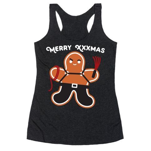 Merry XXXmas Gingerbread Racerback Tank Top