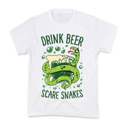 Drink Beer Scare Snakes Kids T-Shirt