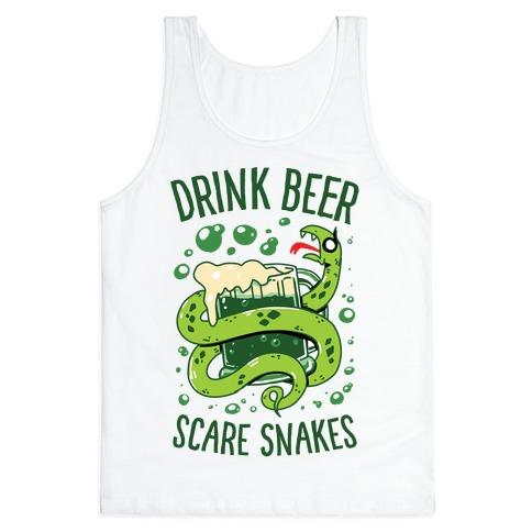 Drink Beer Scare Snakes Tank Top