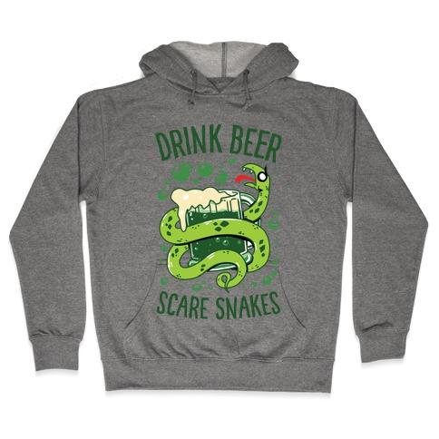 Drink Beer Scare Snakes Hooded Sweatshirt